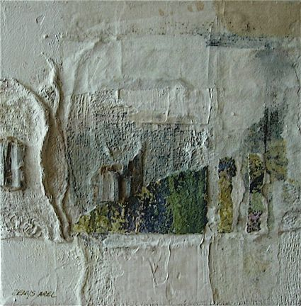 Hiver - Denys Arel - mixed media on canvas