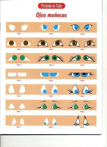 PORCELANA FRIA Trynys design: Como Pintar ojos ojos de muñecas/os   plantilla 10...