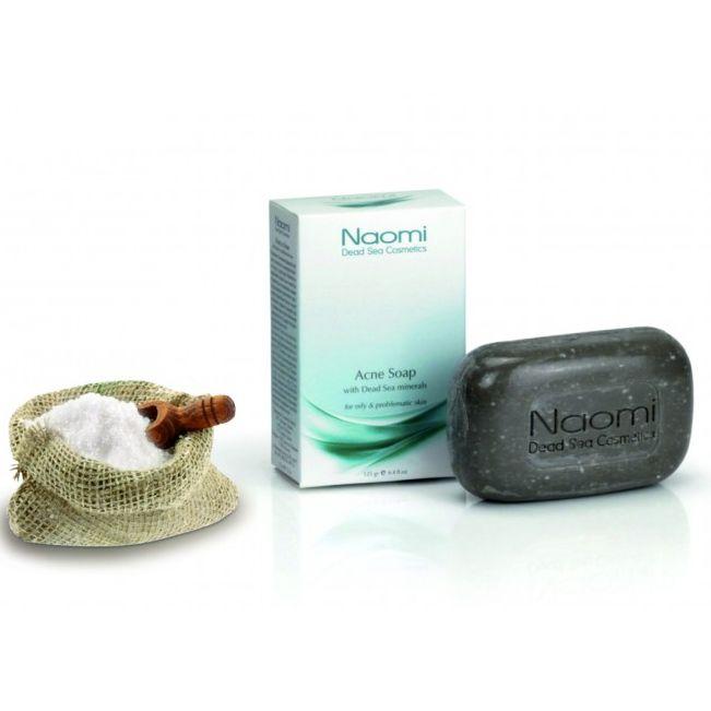 Устали безрезультатно бороться с акне? Попробуйте мыло против акне с минералами Мертвого моря Naomi. Вы решите проблему угрей раз и навсегда!