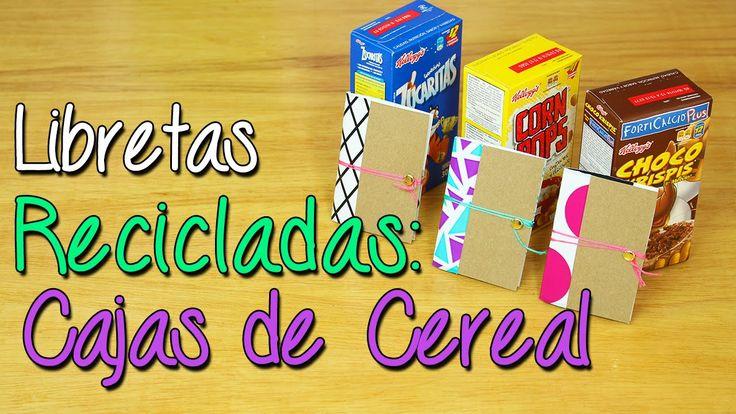 Convierte Cajas de Cereal en Libretas - Libretas Recicladas - Manualidades