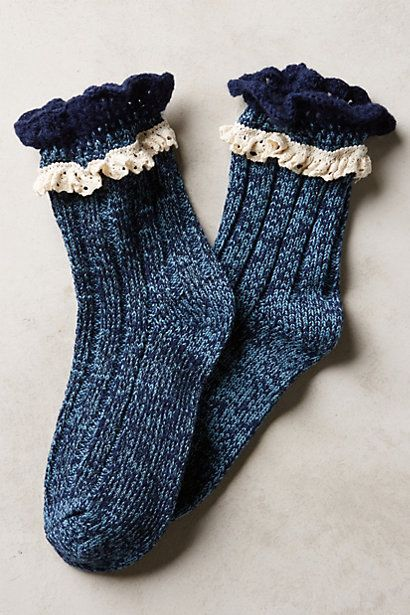 Lace crew socks.. perfect for booties! <3 #anthrofave http://rstyle.me/n/stitdnyg6