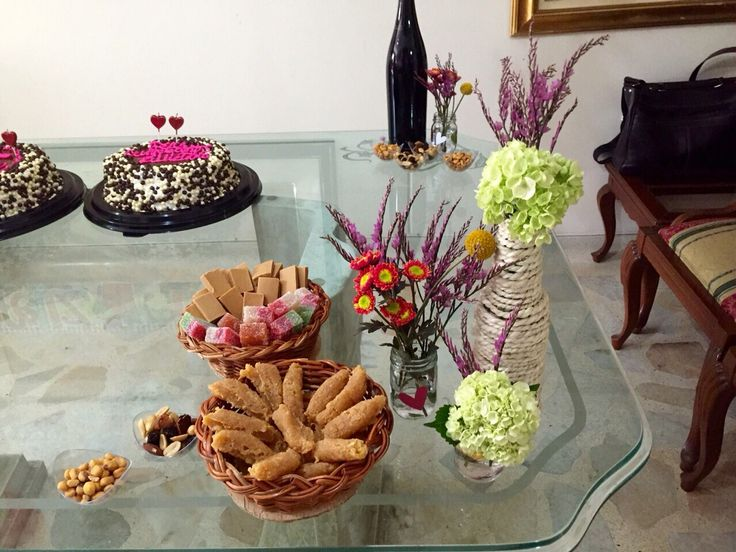 Party decorations with flowers