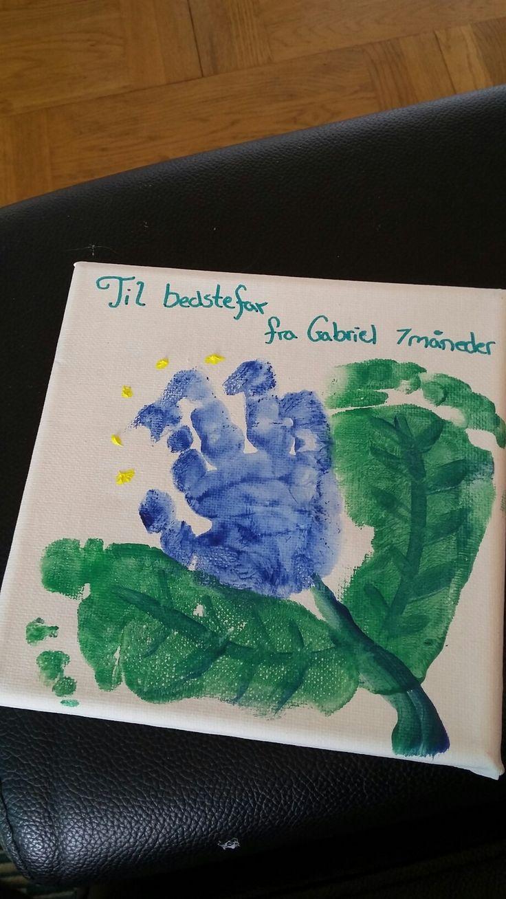 Baby handprint footprint  gift grandfather
