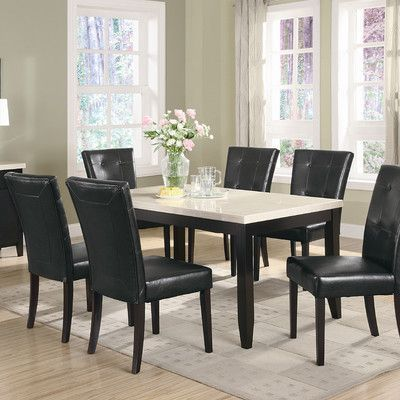 Coaster Furniture Andrea 7 Piece Double Pedestal Dining Table Set