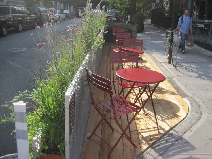 """A few years ago, New York City began implementing a slew of tactical urbanism """"pilot"""" projects that add public space and improve street safety. By making quick, low cost improvements using temporary and/or inexpensive materials, the City was able to swiftly make the improvements and monitor their success."""