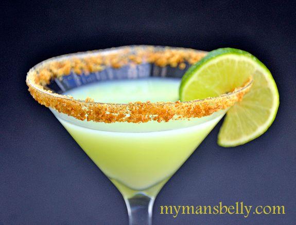 Key Lime Pie Martini:    1 1/2 Oz Stoli Vanilla Vodka  2/3 Oz KeKe Beach Key Lime Liqueur  2/3 Oz Rose's Lime Juice (plus more for rimming glass)  Finely Ground Graham Crackers (for rimming glass)  Lime Wheels