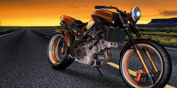 3D Motorrad CGI Visual