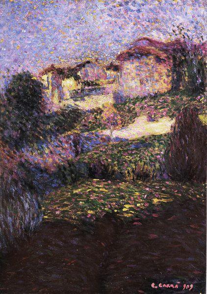 Carlo Carra, Paesaggio 1909