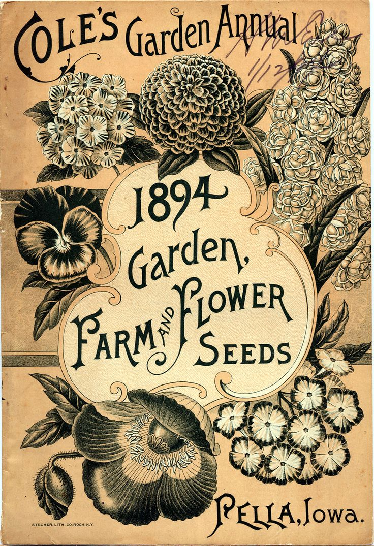 ohhh my god the Smithsonian has an entire catalog of antique seed packet labels. I'm in love.