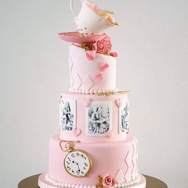 A stunning cake by @thecocoacakery Great use of edible images and that sugar tea cup is incredible!. See the best Edible Image Designs posted daily at http://topperoo.com/edible-image-designs/
