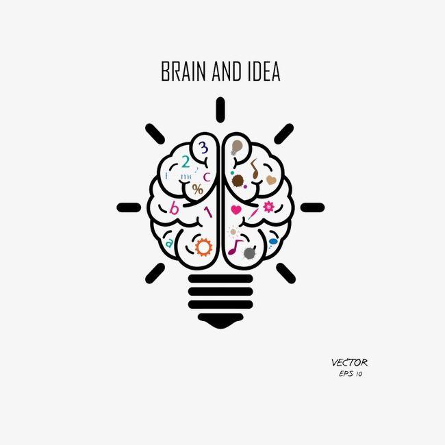 عقل مبدع الدماغ الأيسر الدماغ الأيمن لمبة Png وملف Psd للتحميل مجانا Creative Cards Simple