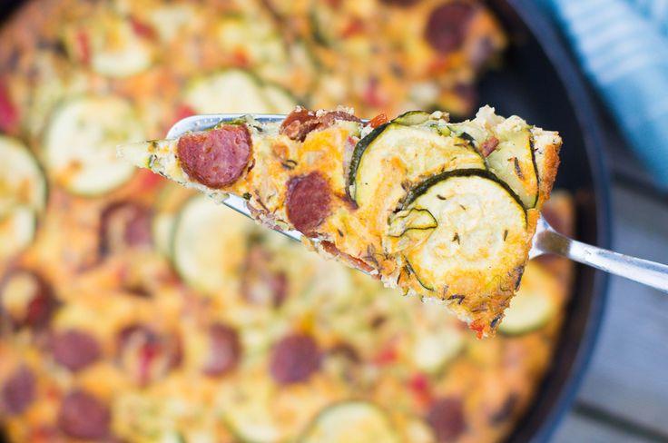 Frittata med korv och zucchini | Tidningen Matkärlek