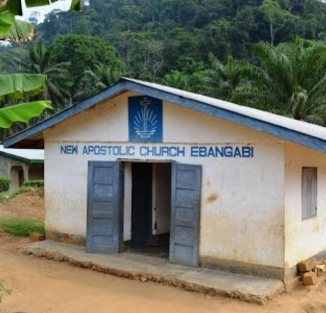 Ebangabi Congregation in Cameroon. This simple building is the temple of our Lord God