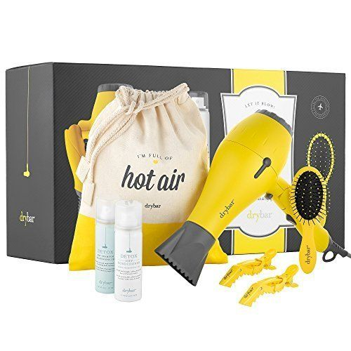 Let it Blow! It's Drybar to Go The Ultimate Travel Essentials Kit - Baby Buttercup Travel Hair Dryer, Lil' Lemon Drop Daily Detangler Hair Brush, and more * To view further for this article, visit the image link. #hairandmakeup