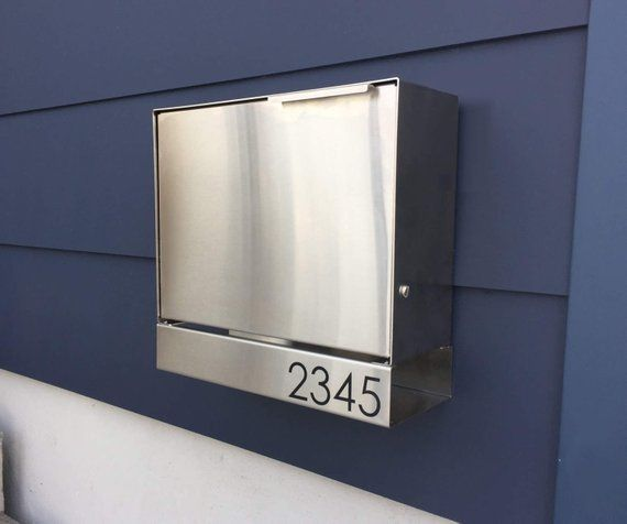 Larger Modern Mailbox Stainless Steel Design Large Wall