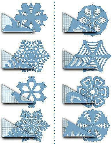 Moldes de copos de nieve para imprimir | Fotos o Imágenes | Portadas para Facebook
