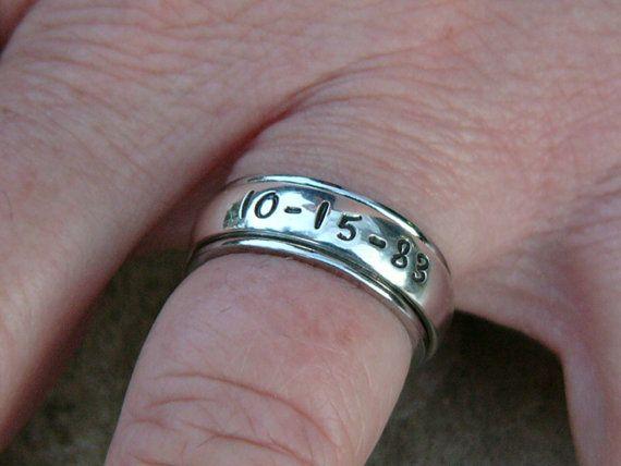 Spinner ring Ladies spinner ring Men's by NameJewelryDesigns, $45.00