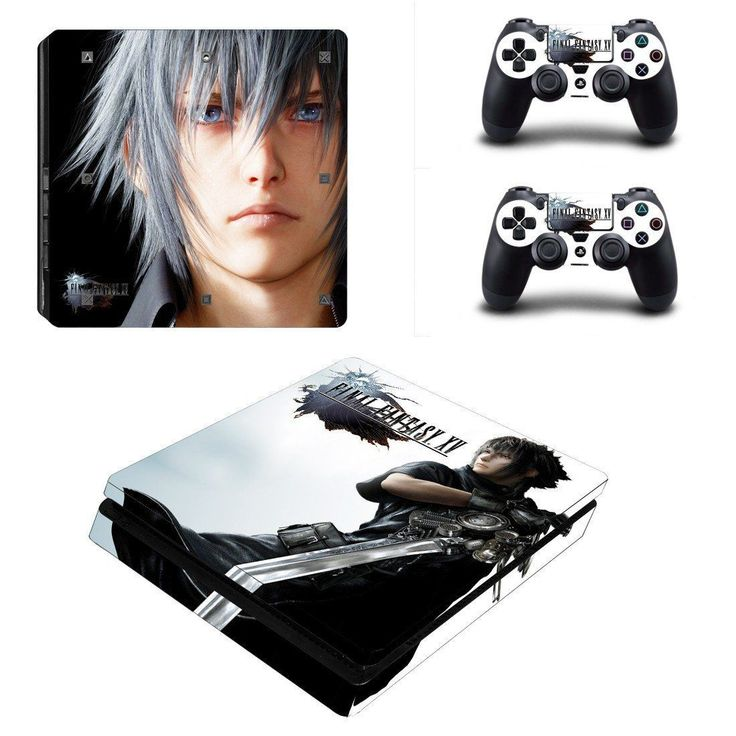 Final Fantasy XV Play Station 4 slim skin decal for console and 2 controllers