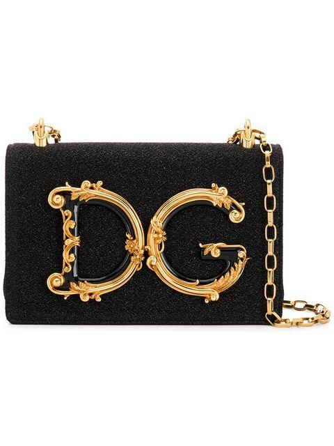 48d4cca2ce0 DOLCE & GABBANA | DG Girls Crossbody Bag - Nero Laminato | $2,639 |  Instantly