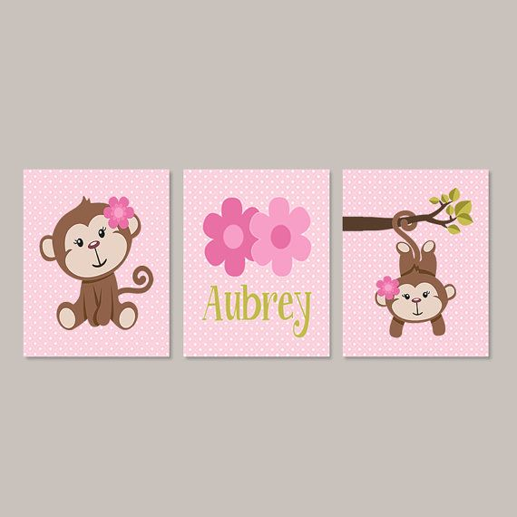 Girl monkey nursery decor monkey bathroom by for Money bathroom decor