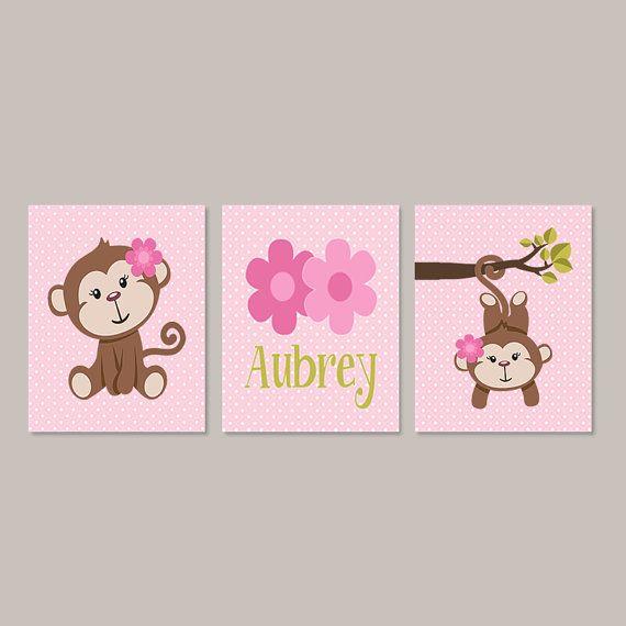 girl monkey nursery decor monkey bathroom by lovelyfacedesigns
