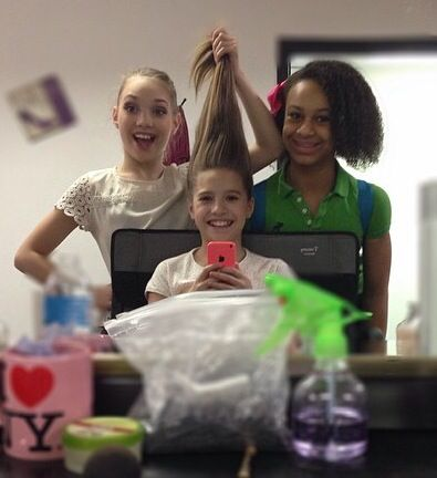 Mackenzie with Maddie and Nia
