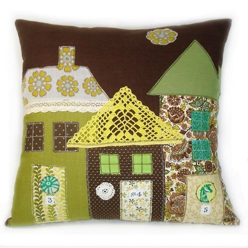 houses on pillows