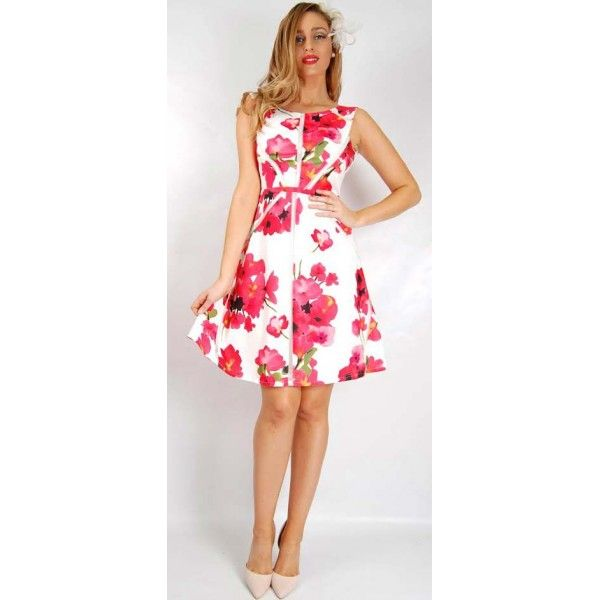 Hiarey Floral Race Party Dress