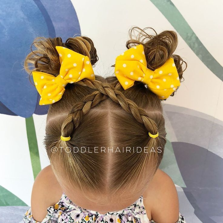 Pull through braid in the middle into 2 pigtails 💕 hotd hairforlittlegirls toddlerhairideas toddlerhair elastics easytoddlerhairstyles – Artofit