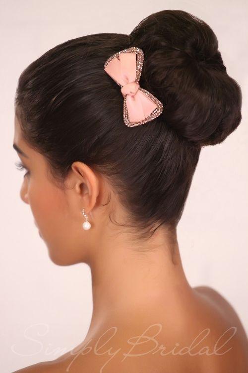 Rhinestone And Ribbon Bow Hairclip Doll Up Your Wedding