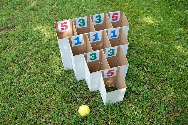 DIY cardboard game to play