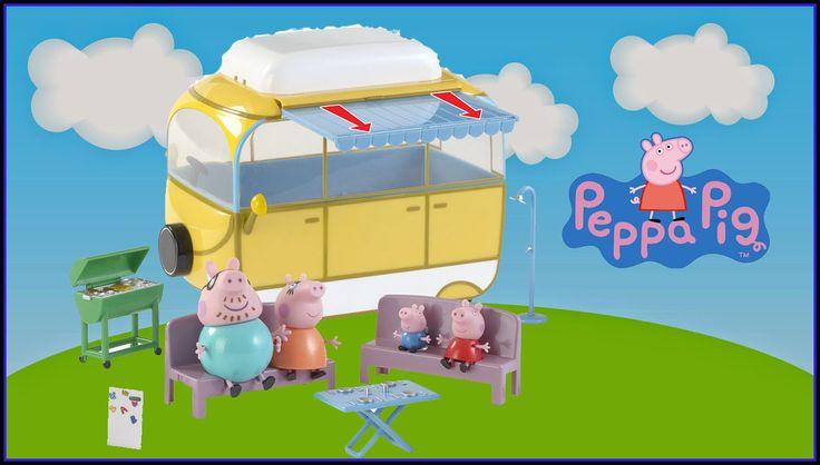 Peppa Pig's Campervan Playset  Peppa Pig Autocaravana Casa rodante de Pe...