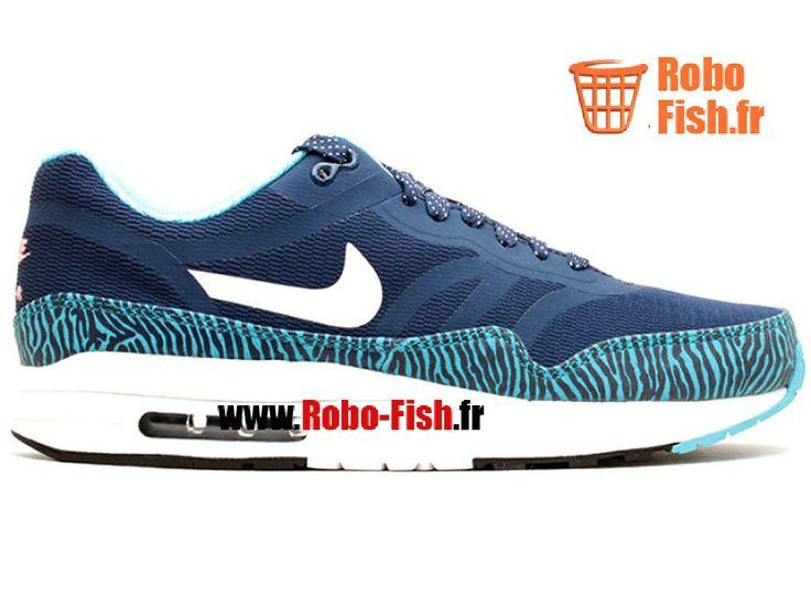 Nike Air Max 1 Prm Tape - Chaussure Nike Running Pas Cher Pour Homme Bleu/Blanc 599514-410
