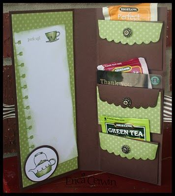 Pink Buckaroo Designs, Erica Cerwin Stampin' Up Demonstrator, San Antonio, TX: Tutorial: Gift Pocket Wallet