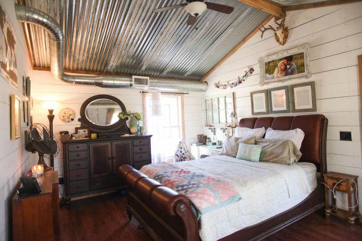 Lovely bedroom metal-building-home-9