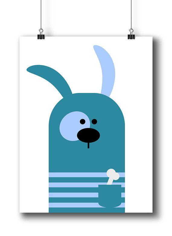 Printable Nursery Art Animal Nursery Print Baby por LimitationFree