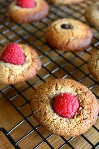 grain free raspberry pecan cookies