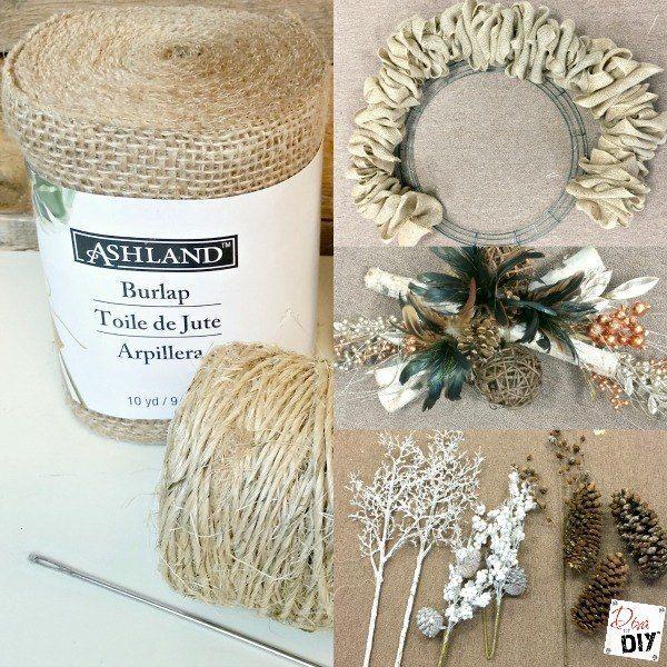 Make the Perfect Burlap Wreath