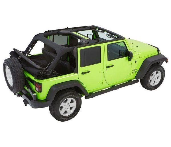 Bestop TREKTOP™ NX GLIDE™ CONVERTIBLE SOFT TOP 4-door Jeep Wrangler 5492335/5492317