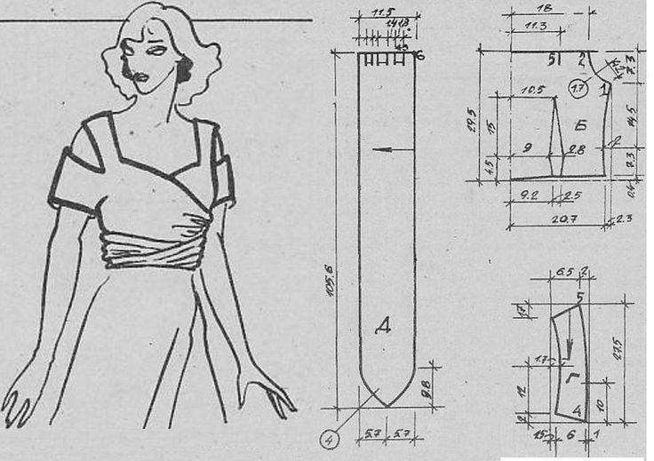 Блузка-топ с запахом Размер 46 (168 - 92)  Эта модель шьется только из эластичных материалов. Для пошива потребуется:  Вискозное джерси 1,10 м шириной 140 см; флизелин