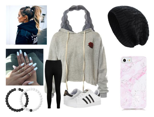 """Cute Cloudy Day Outfit"" by arielforlife ❤ liked on Polyvore featuring Aéropostale, Sans Souci, Boohoo, adidas and Lokai"