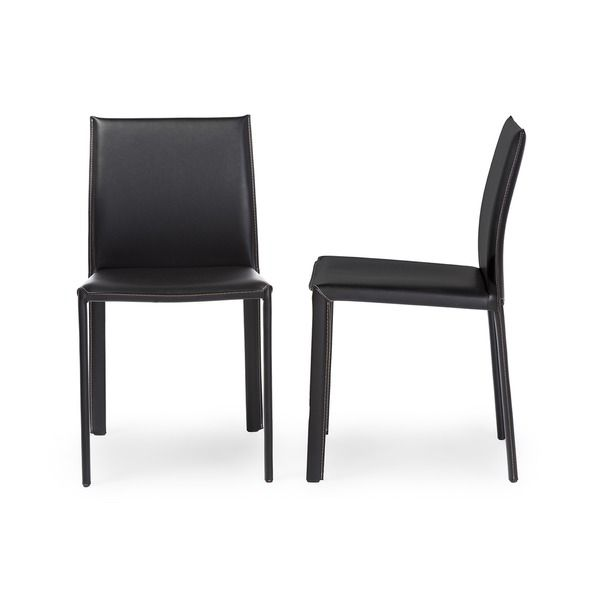 Best Black Leather Dining Chairs Ideas On Pinterest Modern - Brown leather dining room chairs