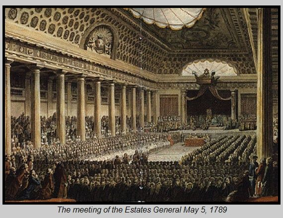 meeting_EstatesGeneral_5May1789.jpg - The meeting of the Estates General at Versailles, May5, 1789. The Three Estates are seated…