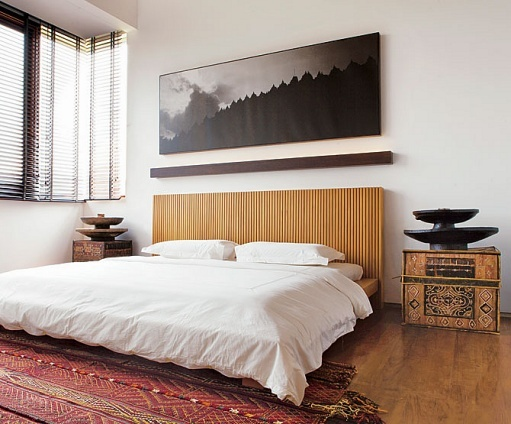Bedroom designed by Yori Antar.