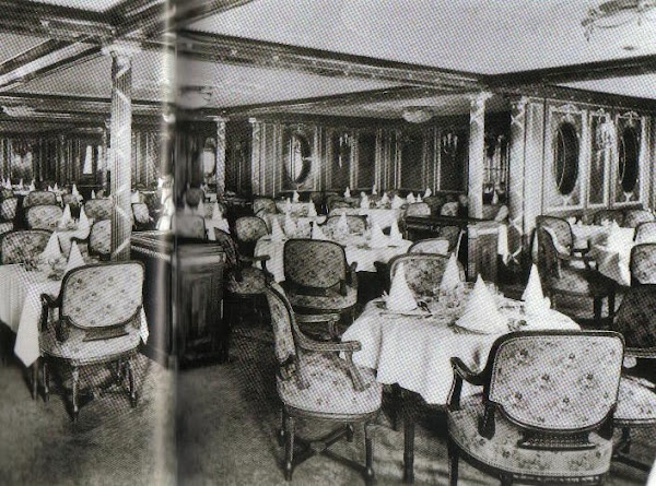 1st Class Writing Room Made Up For Passengers Luncheon