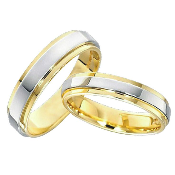 Classic anelli in oro placcato amanti gioielli di fidanzamento mens e womens wedding band promessa anelli set per coppie