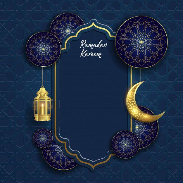 Ramadan Kareem Islamic With Moon And Lantern Lukisan Keluarga Latar Belakang Seni Islamis