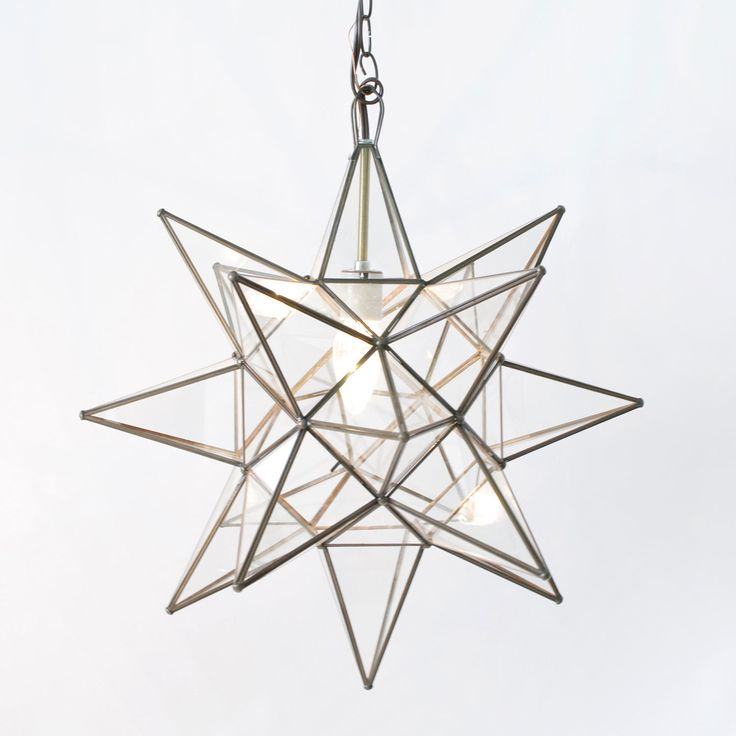 Worlds Away Star Clear Large Chandelier WAACS111