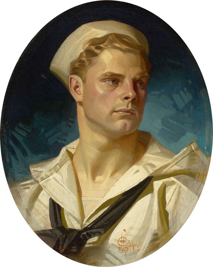 19thcenturyboyfriend:  J.C. Leyendecker, gay illustrator who was Norman Rockwell's predessor