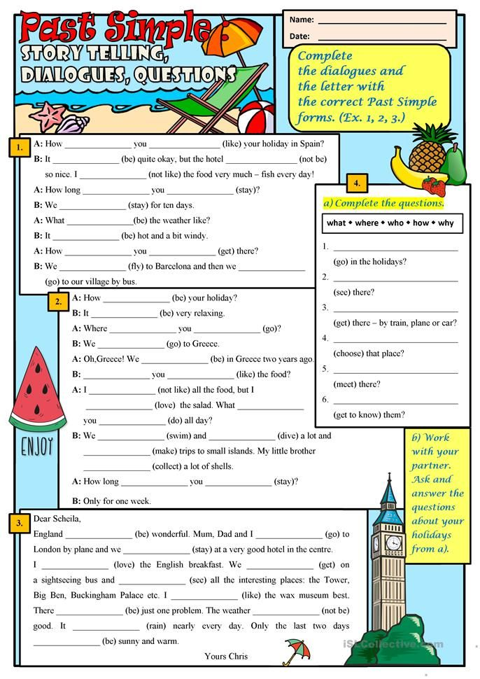 Past Simple Story Telling English Esl Worksheets For – Cute766